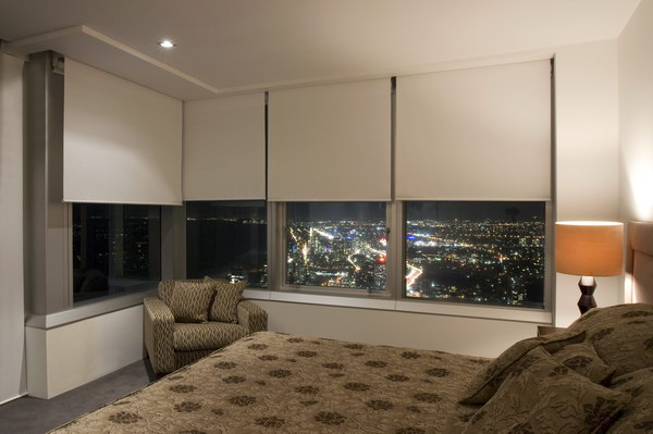 Beautiful Roller Blinds Gallery. Hdr_rollers. BO   Brown Bedroom Night L